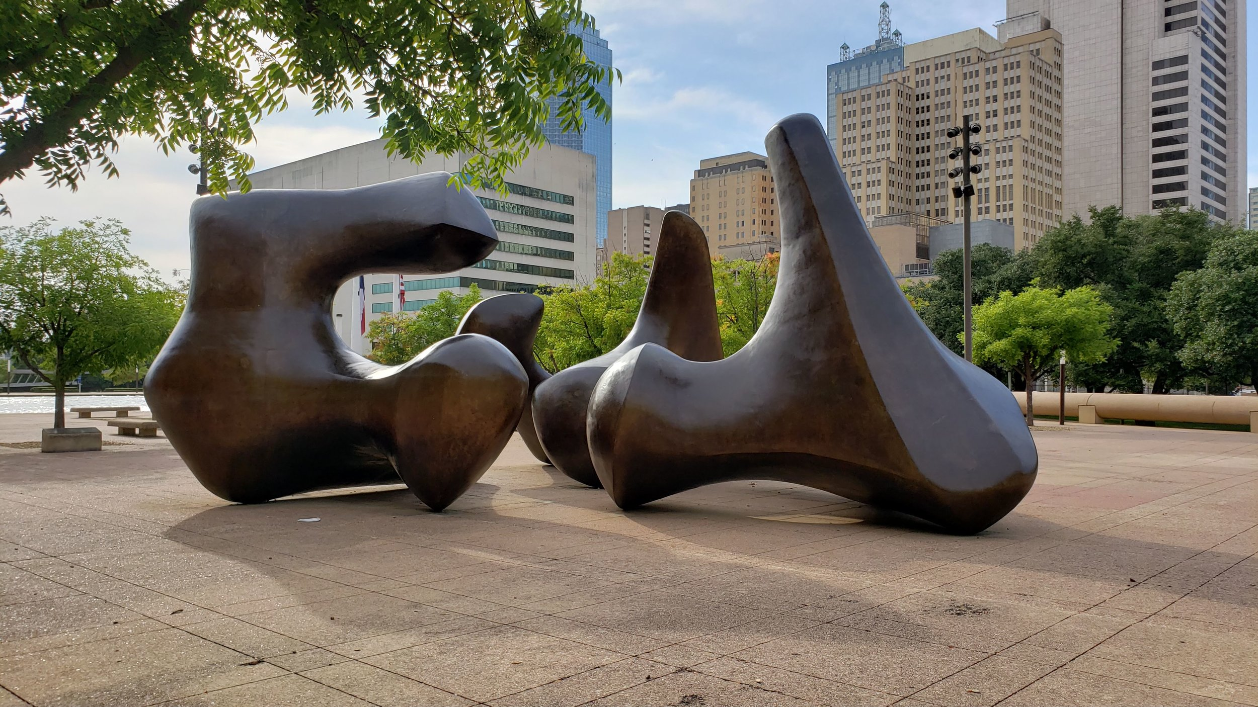 Sculpture in Dallas City Hall Courtyard