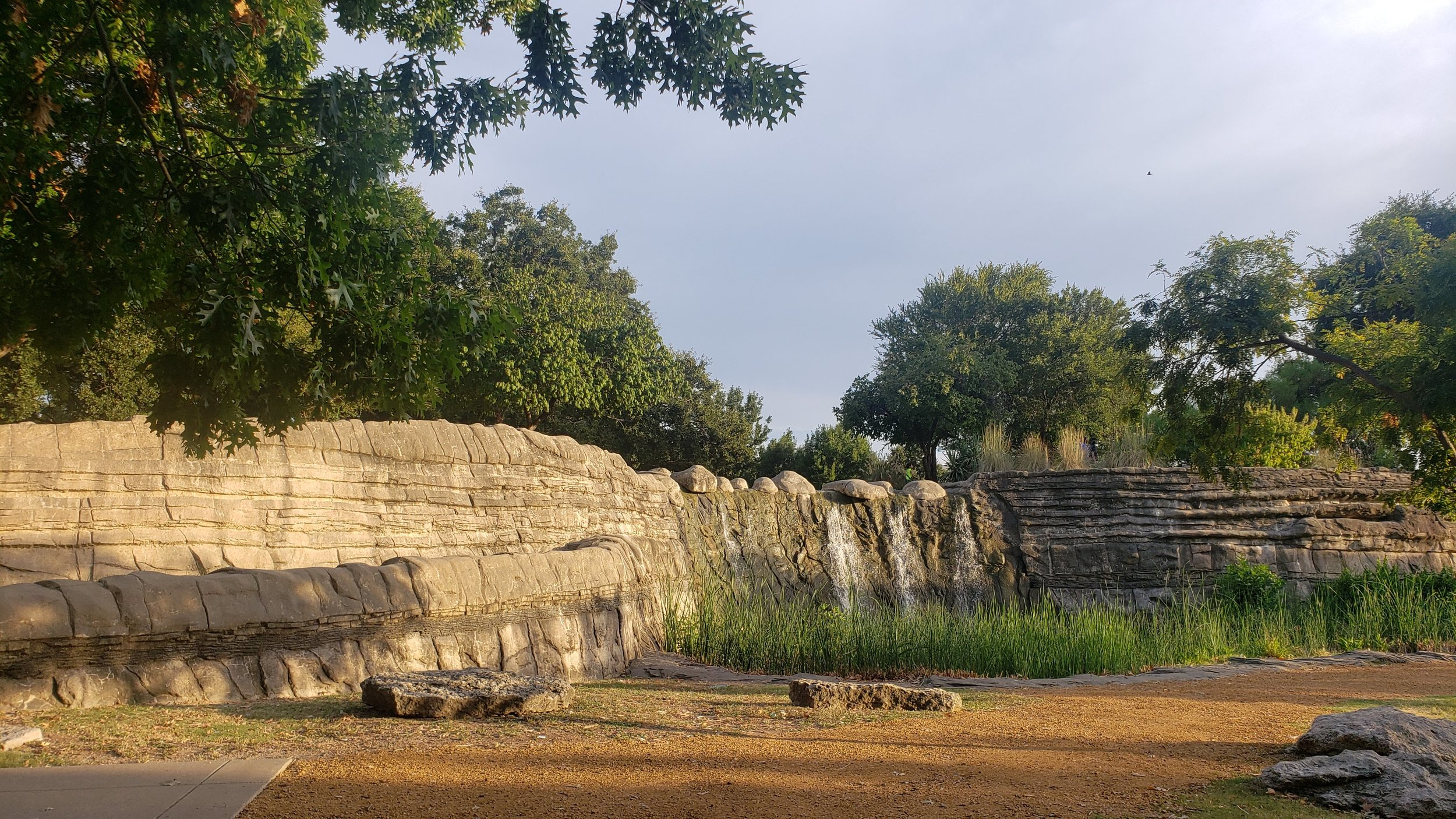 Waterfall in Pioneer Plaza