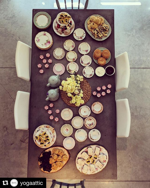 "@yogaattic is an amazing spot for a tea party! Tina's amazing food may taste even better on fine china 😉  #Repost @yogaattic ・・・ Have a special occasion coming up or looking for somewhere to host a corporate retreat? We can help!⠀ 🙋 ⠀ And we have made the process as simple as possible for you to get booked in here!⠀ 💪 ⠀ Head to the link in our profile and click on ""Space Rental"" or ""Private Events"", fill in the short form and we'll get back to you ASAP with some options⠀ 🙌"