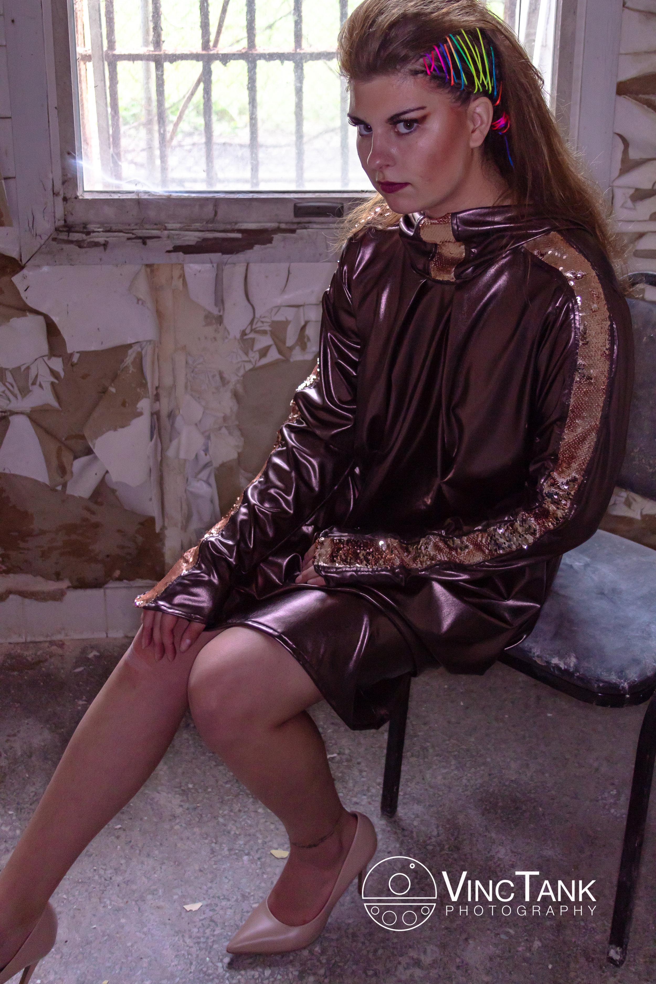 Photographer: Vincent Cintron, Model: Alexa Burmester, MUA: Samantha Terry, Hair: Bianca Naranjo. Designer: Dovile Riebschlager