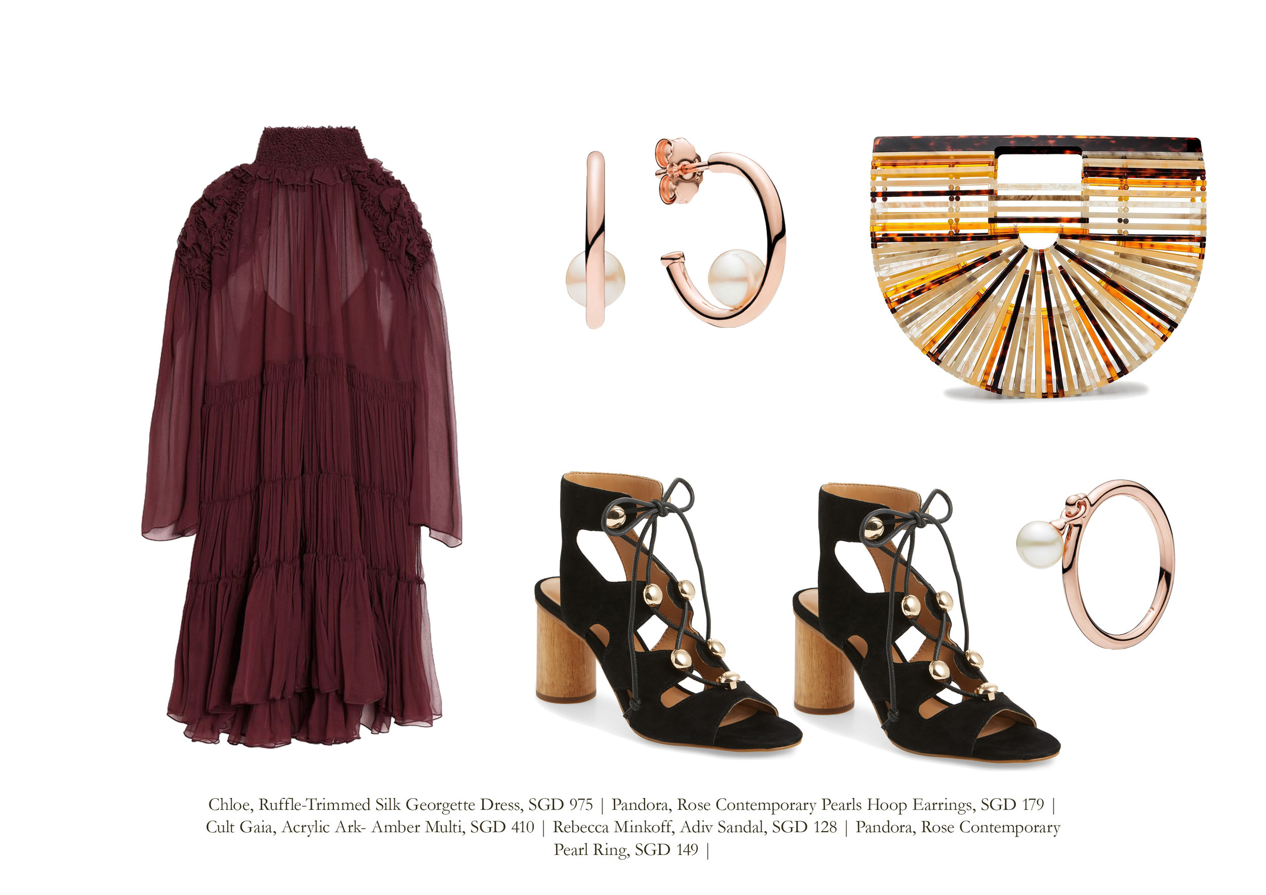 Chloe  |  Pandora (Earrings)  |  Cult Gaia  |  Rebecca Minkoff  |  Pandora (Ring)  |