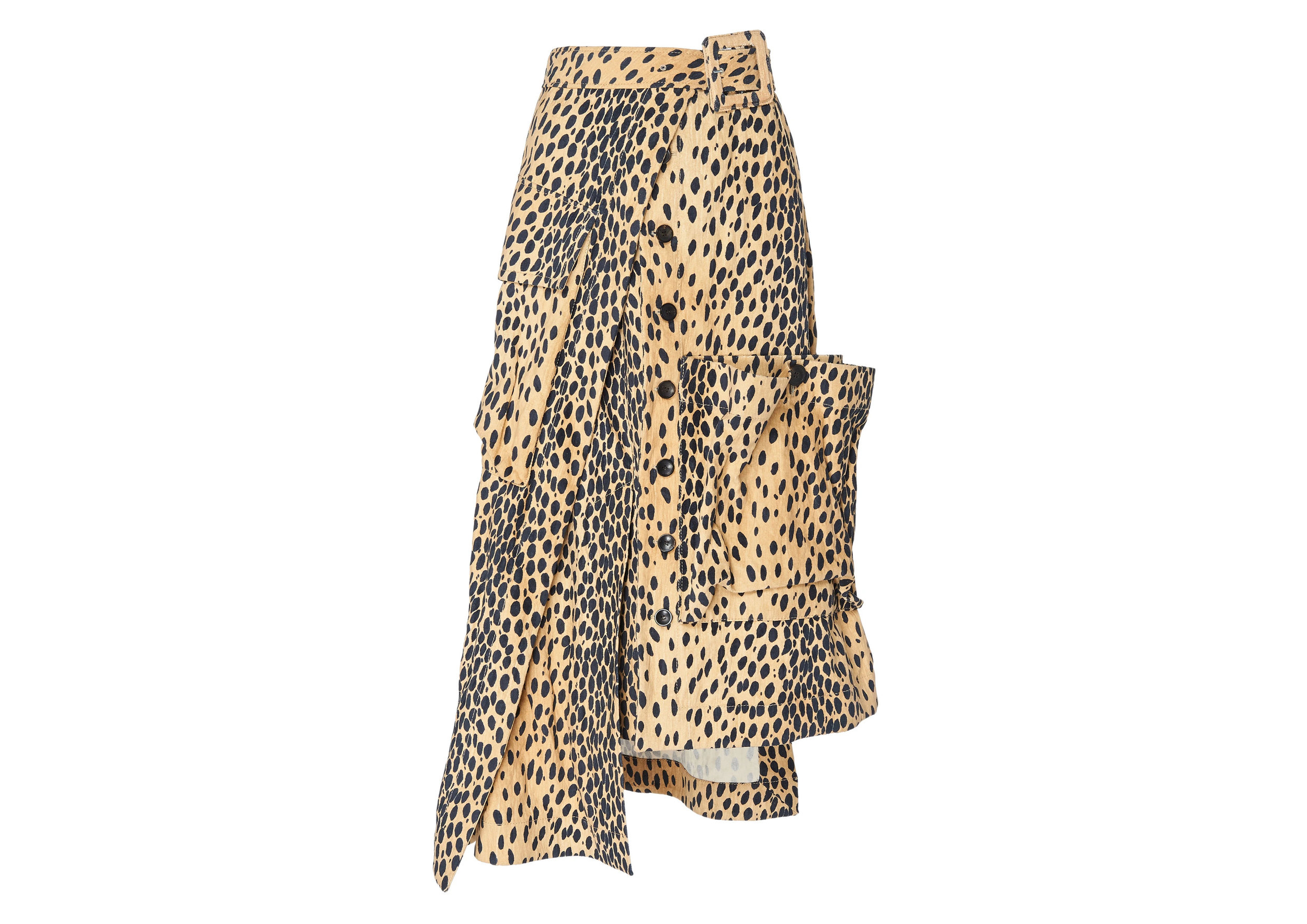 Deconstructed Button-Front Animal-Print Midi SkirtSGD2,221 -