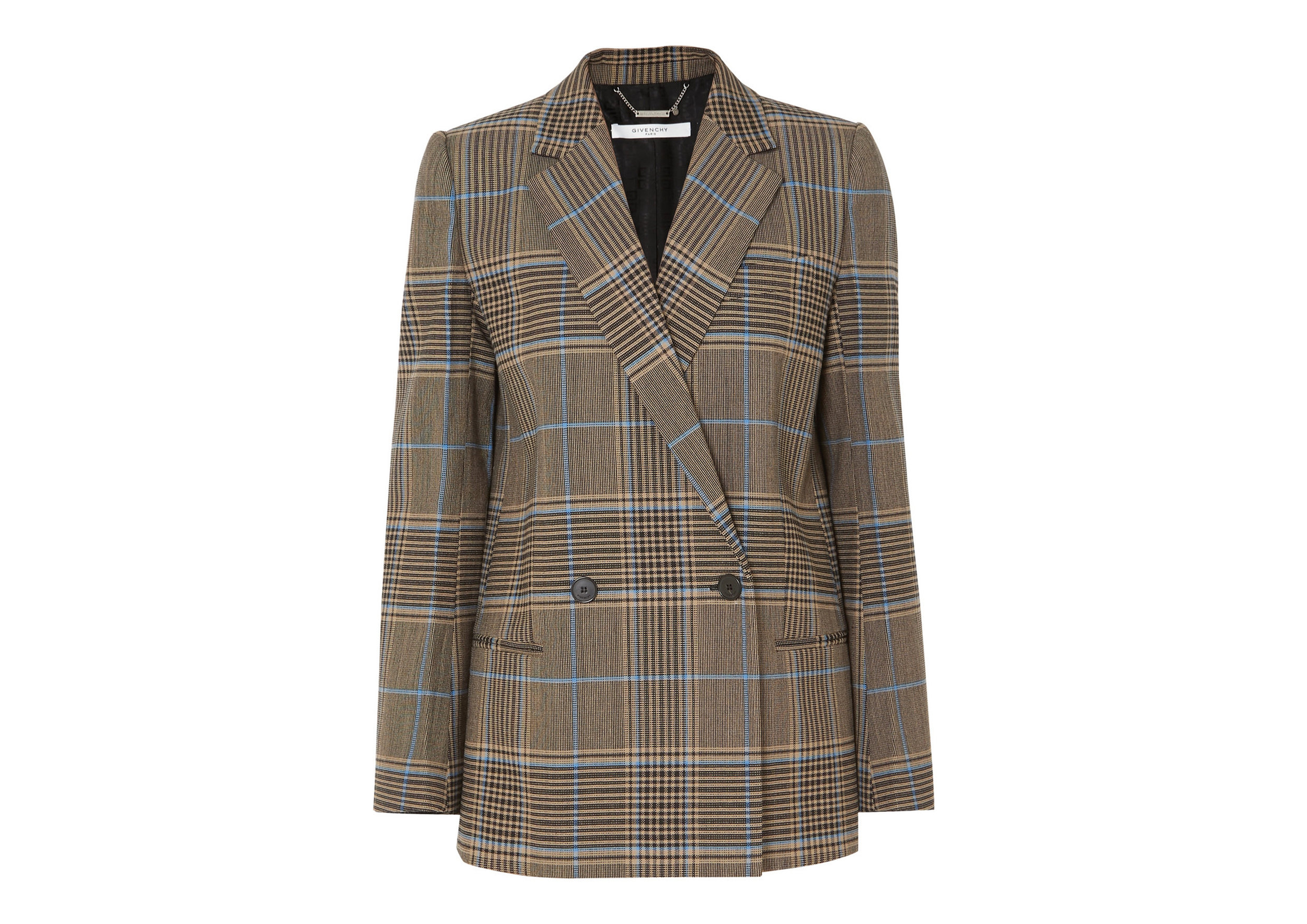 Givenchy - Double-breasted Checked Wool-blend Blazer, SGD 3,959
