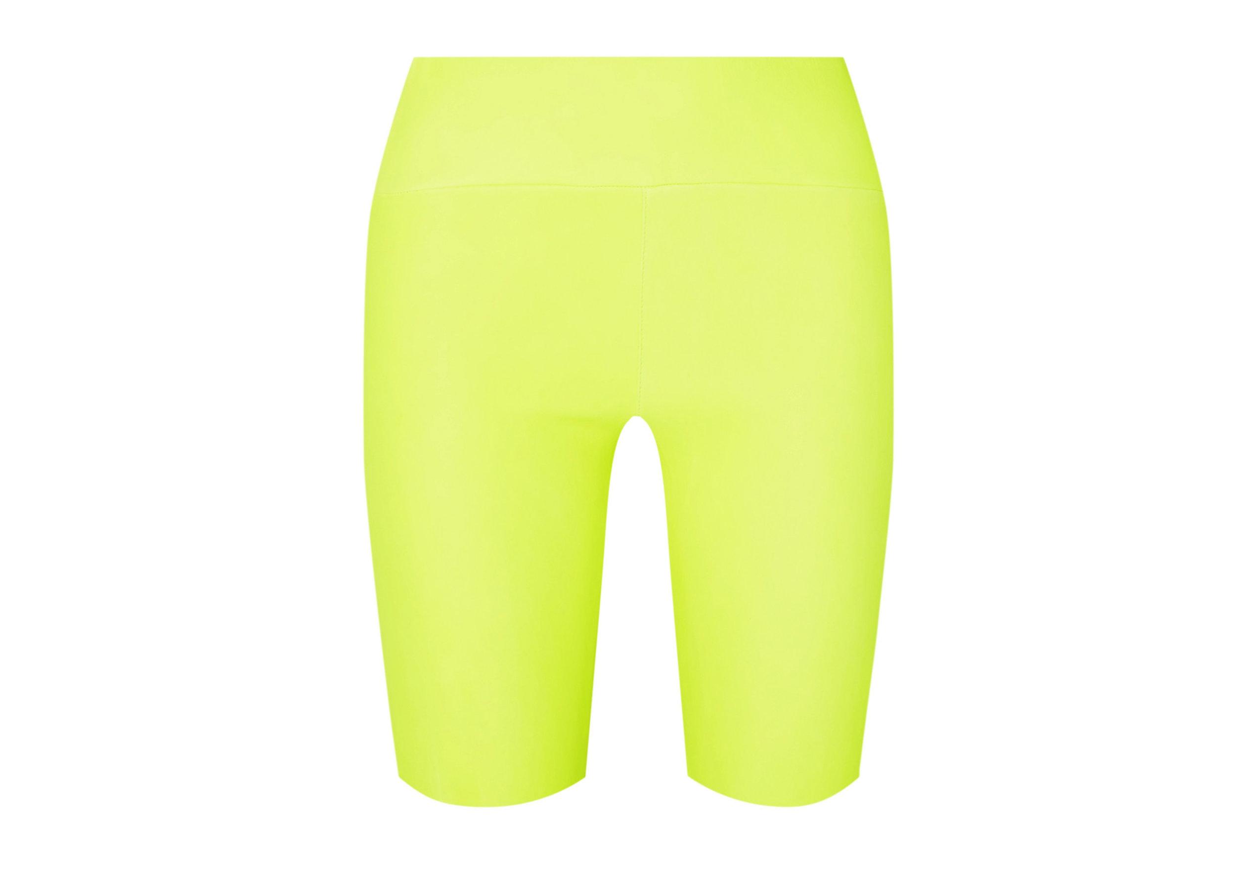 SPRWMN - Neon Leather Shorts, SGD 1,121