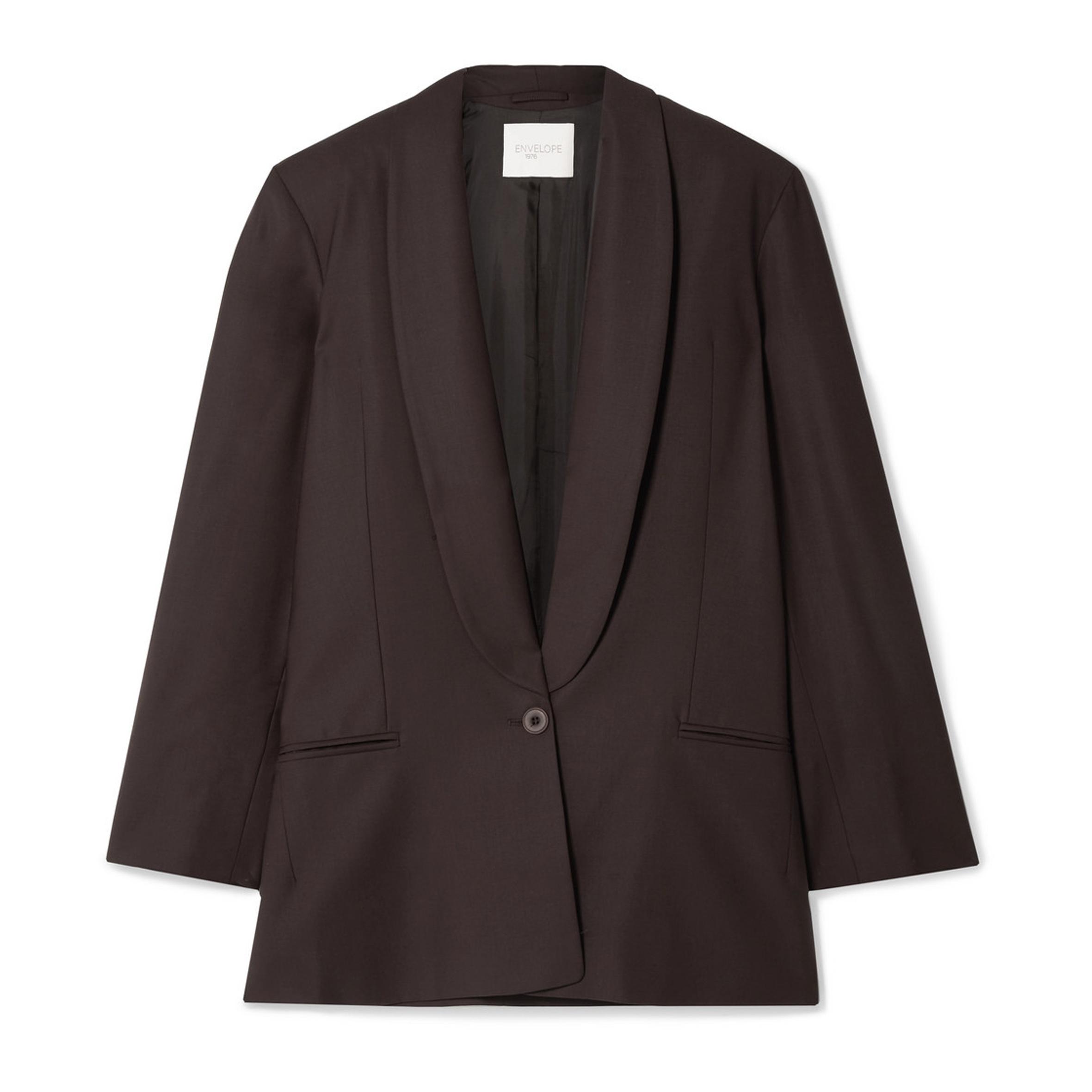 Envelope1976 - Bahamas oversized wool-crepe blazer | SGD 593