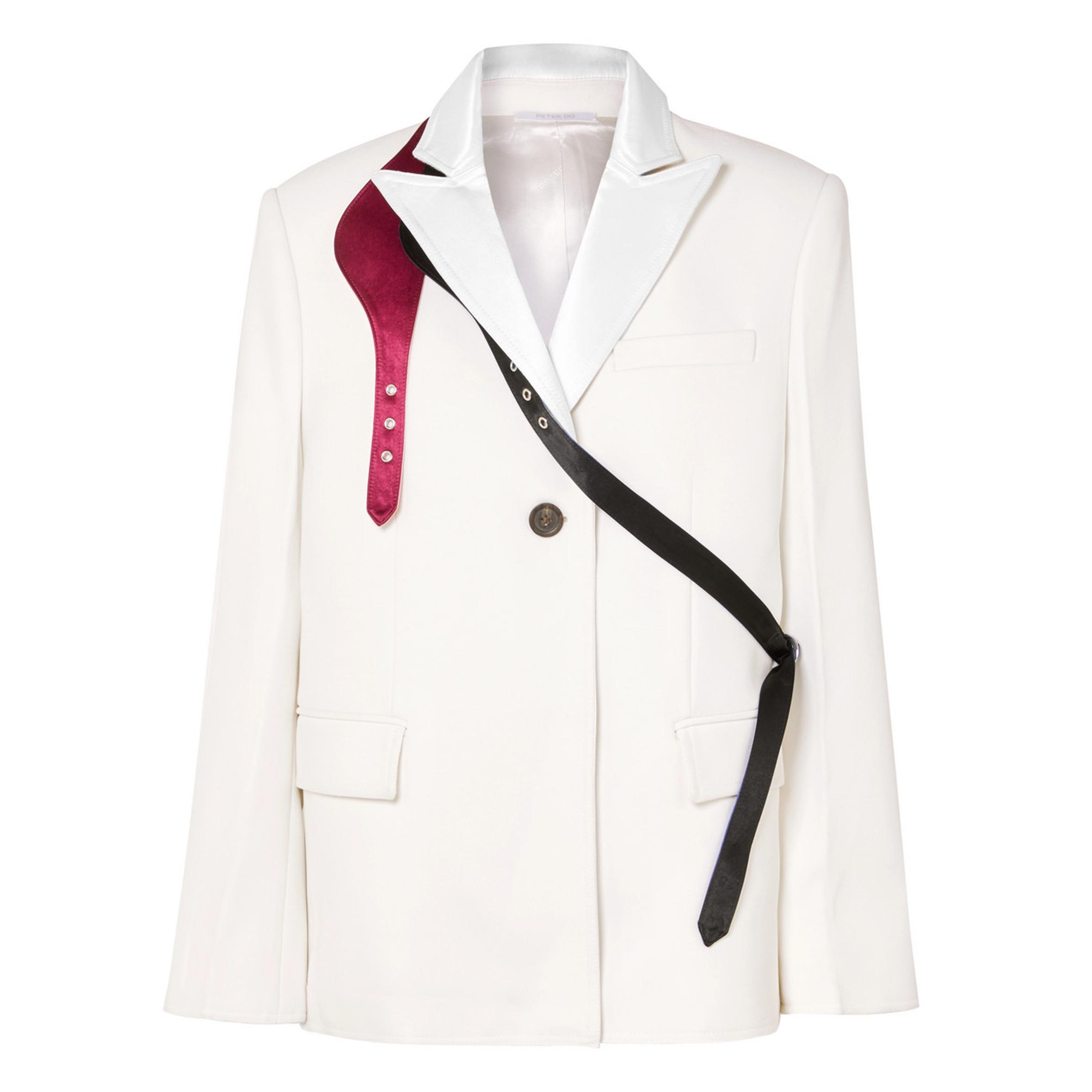 Peter Do - Buckled satin-trimmed crepe blazer | SGD 2,757