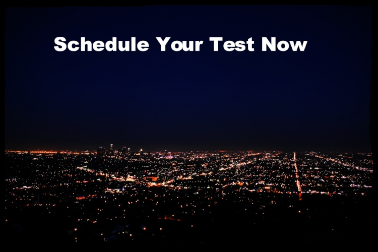 Schedule your test