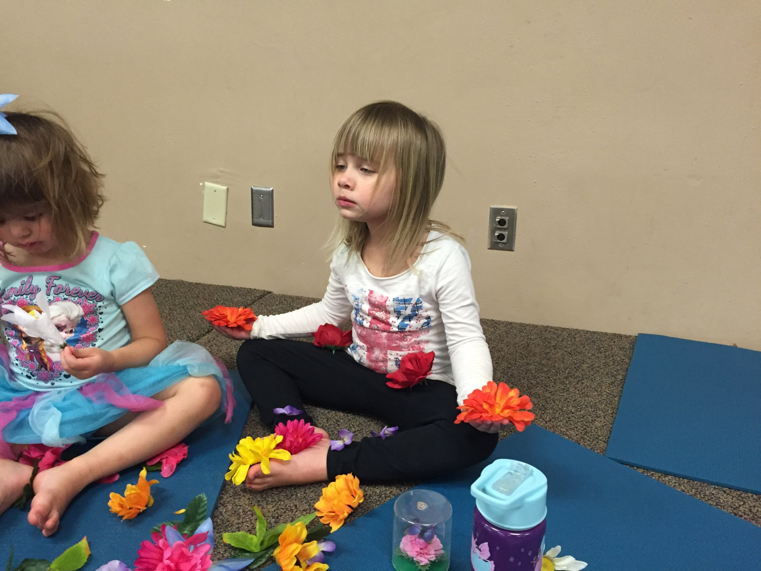 Kids' Preschool Yoga Class, Butterfly Pose