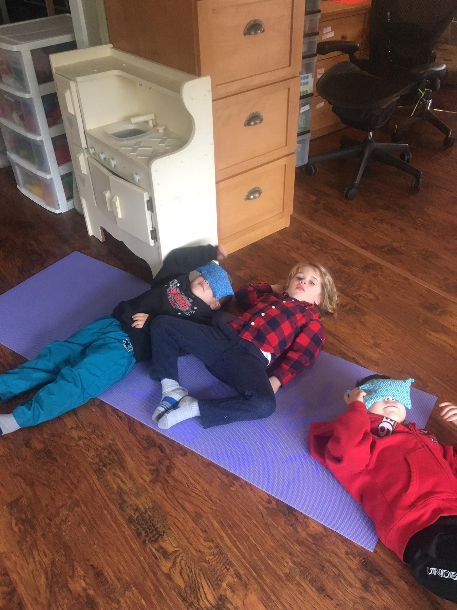 Kids' Preschool Yoga Class, Relaxation