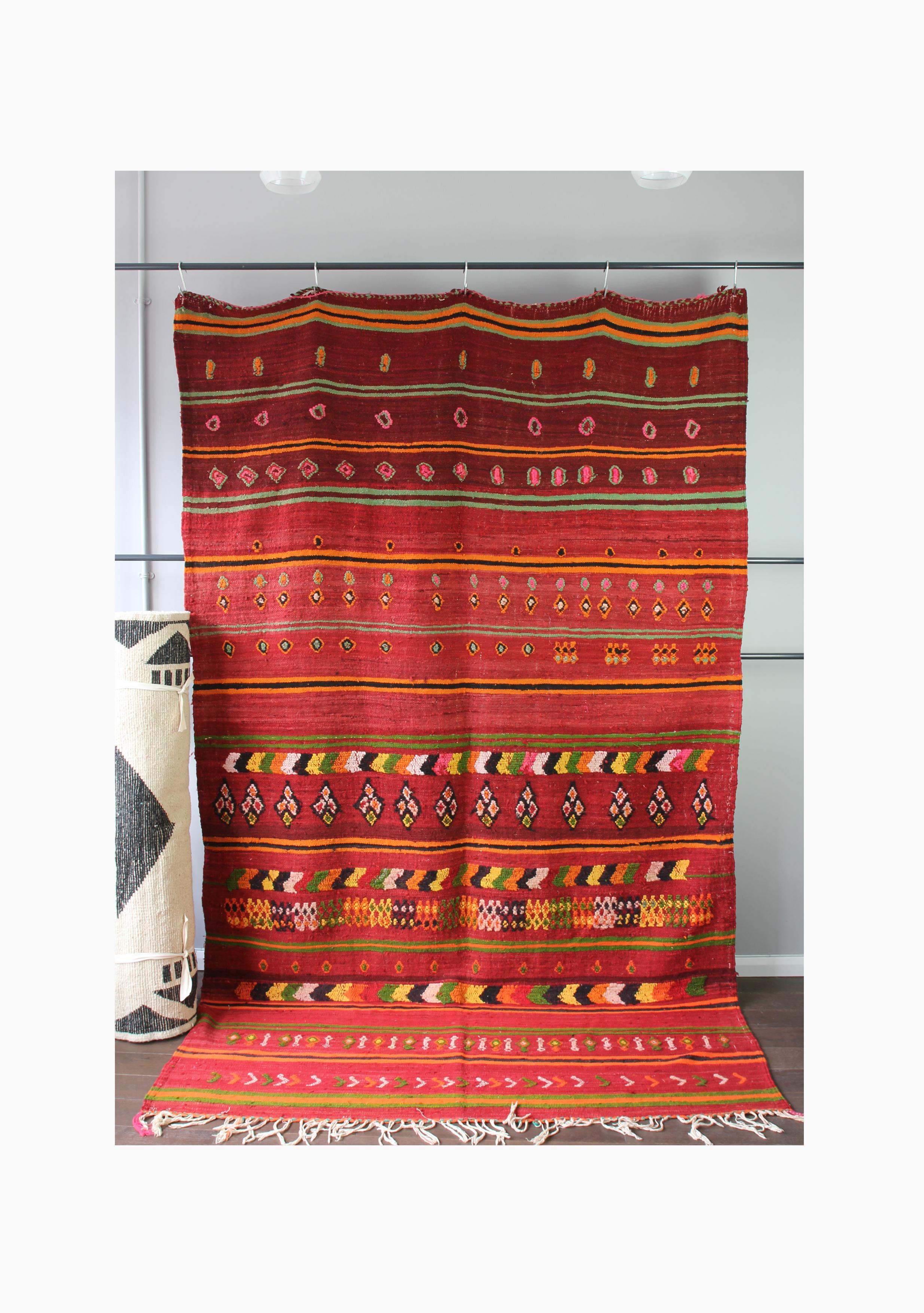 Vintage Wool Kilim Boucherouite 085