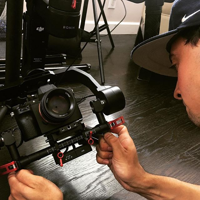Shout out to @depadila working the #Ronin today at our shoot with @yogawakeup #gimbal #filmmaking #camera #a7sii
