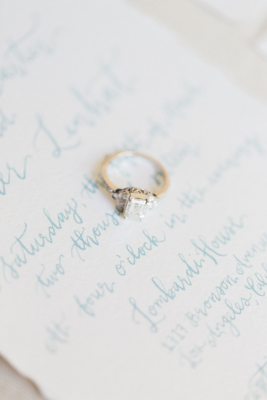 pirouettepaper.com | The Lombardi House Weddings | Pirouette Paper | Pale Blue Wedding Inspiration | Wedding Calligraphy and Invitations