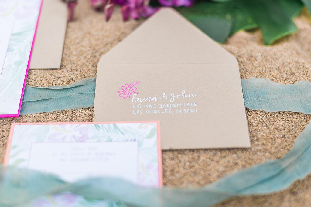pirouettepaper.com   Maui Wedding Invitations   Pirouette Paper Company   Wedding Invitations with a Tropical Theme