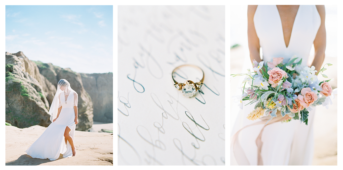 CUSTOM CALLIGRAPHY, INVITATIONS AND SIGNAGE | BEACH WEDDING AND BRIDAL INSPIRATION | PIROUETTE PAPER | MALLORY DAWN PHOTO