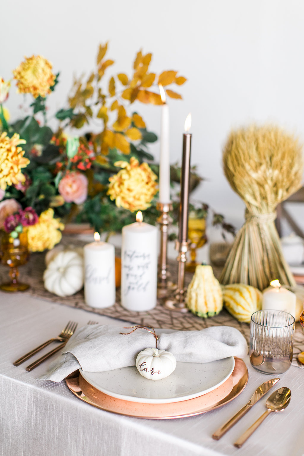 Fall Tablescape Inspiration | Pirouette Paper | Lovisa Photo