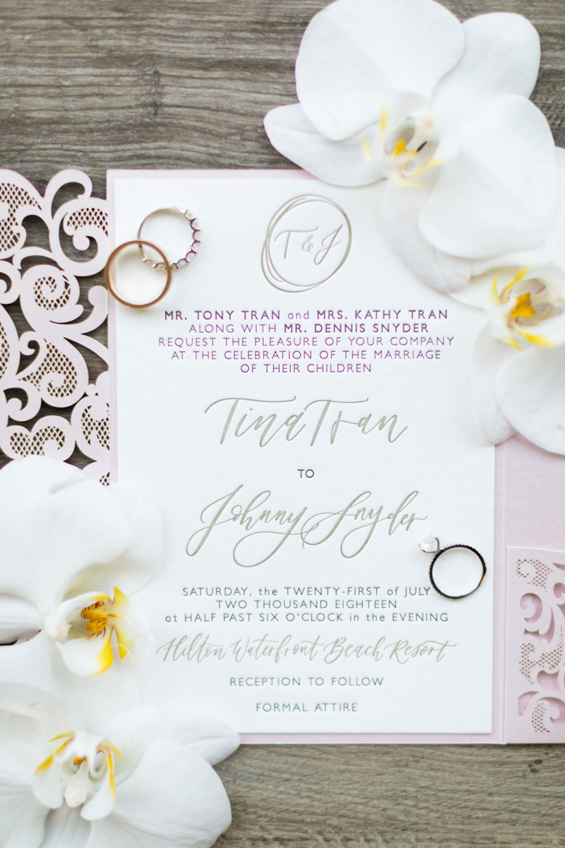 pirouettepaper.com | Wedding Stationery, Signage and Invitations | Pirouette Paper Company | The Waterfront Beach Resort Hilton Huntington Beach Wedding | Katrina Jayne Photography_ (3).jpg
