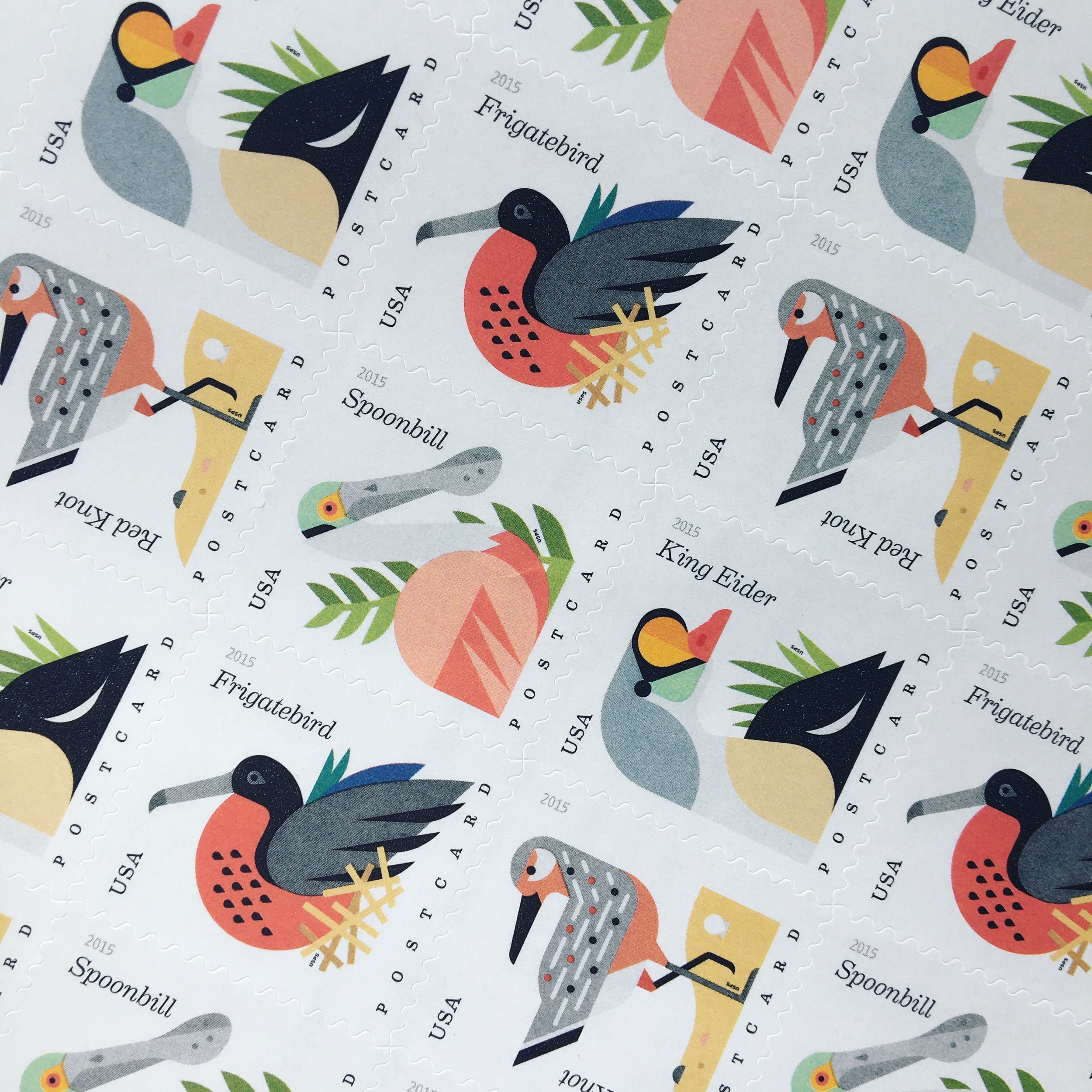 Beautiful Charley Harper- Postcard Edition Stamps
