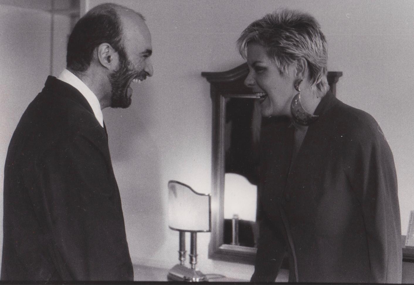 Ruth McCartney and Nasim Nadirov in Russia circa 1991