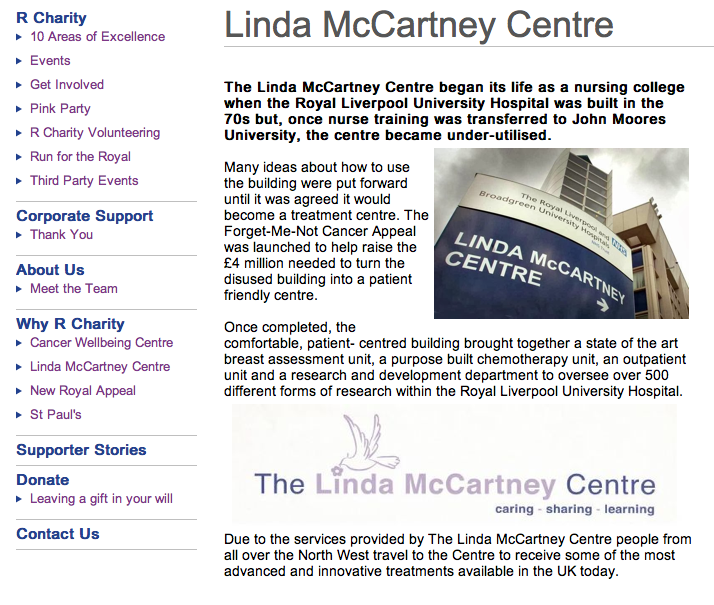 The Linda McCartney Centre