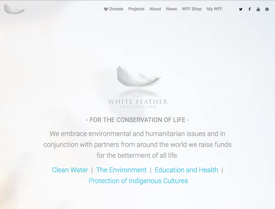 Julian Lennon's White Feather Foundation