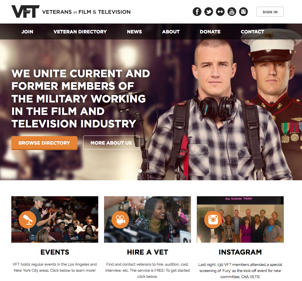 Veterans In Film and Television