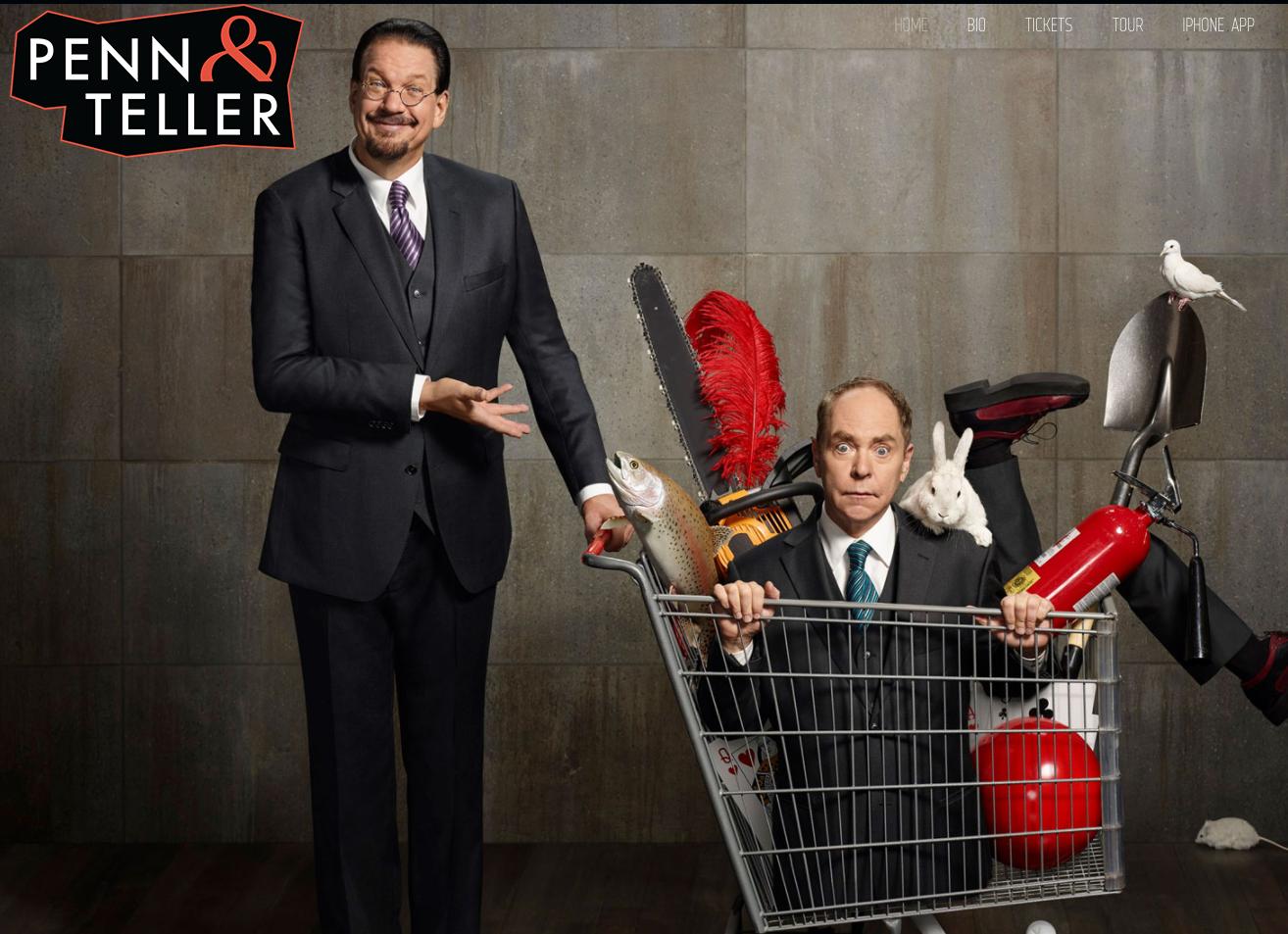 Visit Penn & Teller's site.