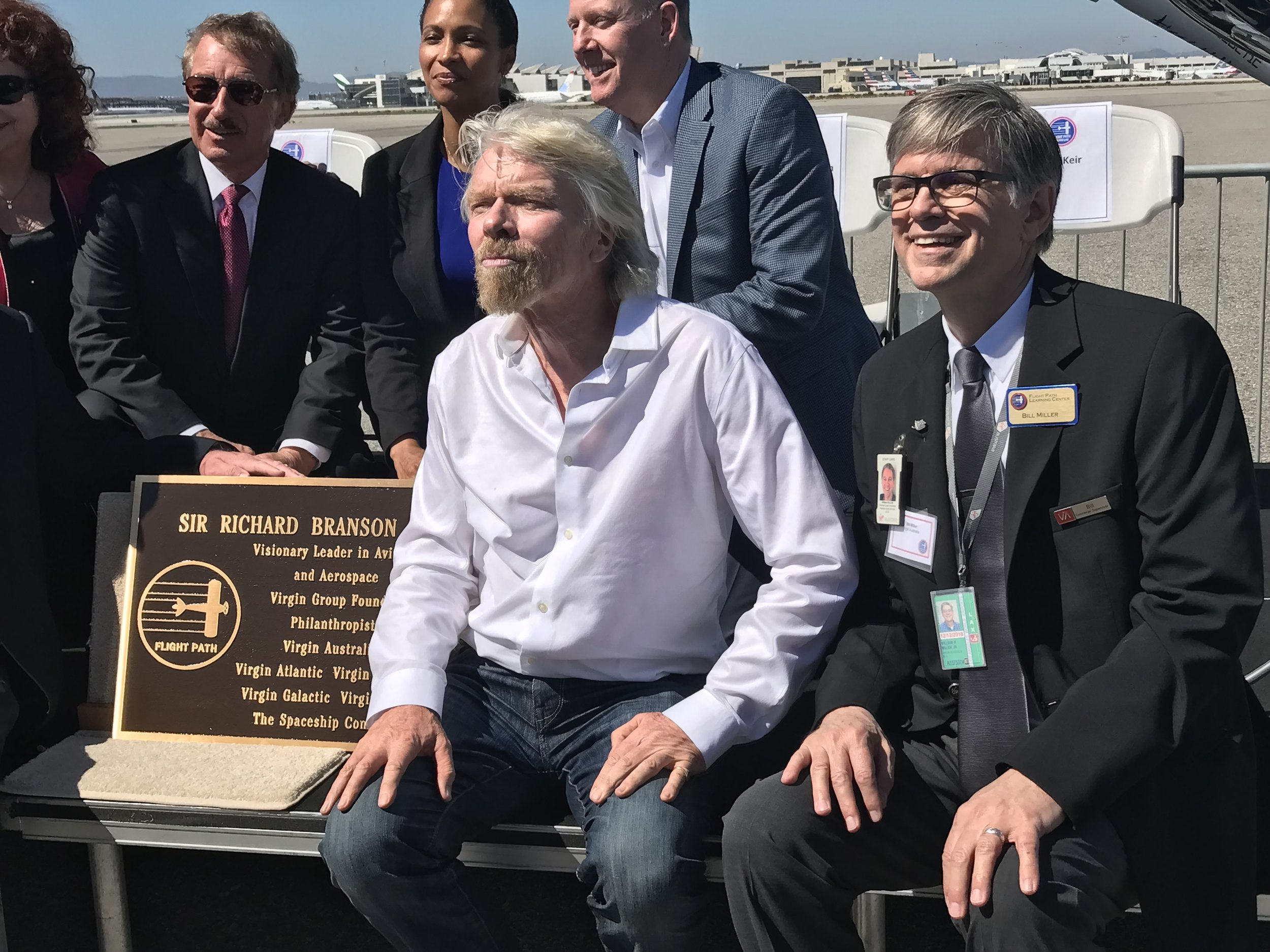 Sir Richard Branson being honored at the Flight Path Museum @ LAX (with our friend Bill Miller (on the right) Photos © McCartney Multimedia.