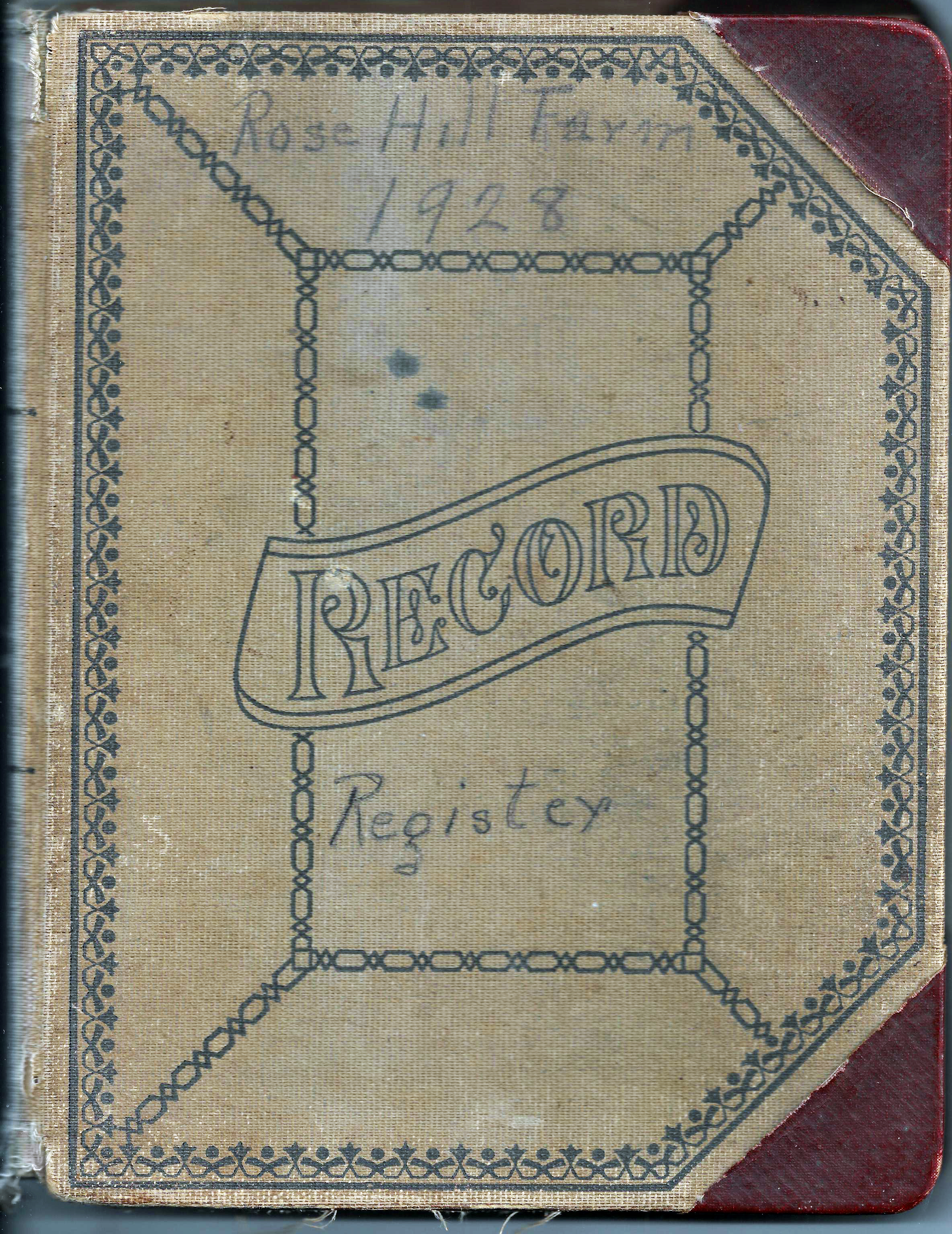 Rose Hill Farm Guest Register 1928