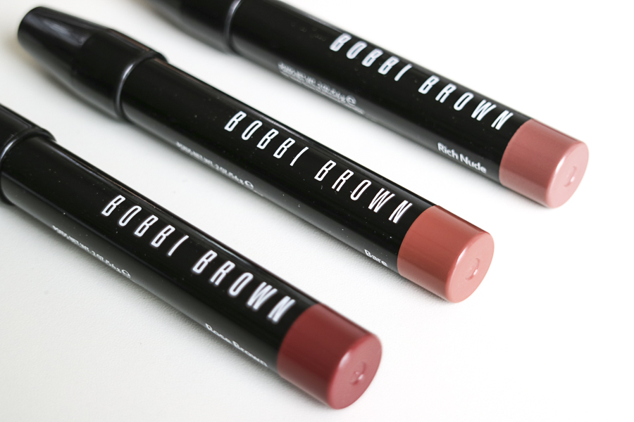 From L to R: Rose Brown, Bare, Rich Nude