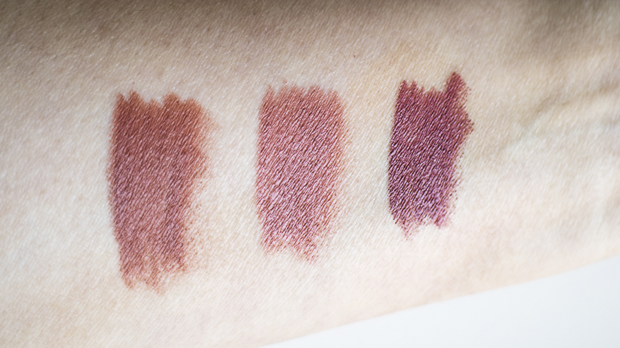 From L to R: Rich Nude, Bare, Rose Brown