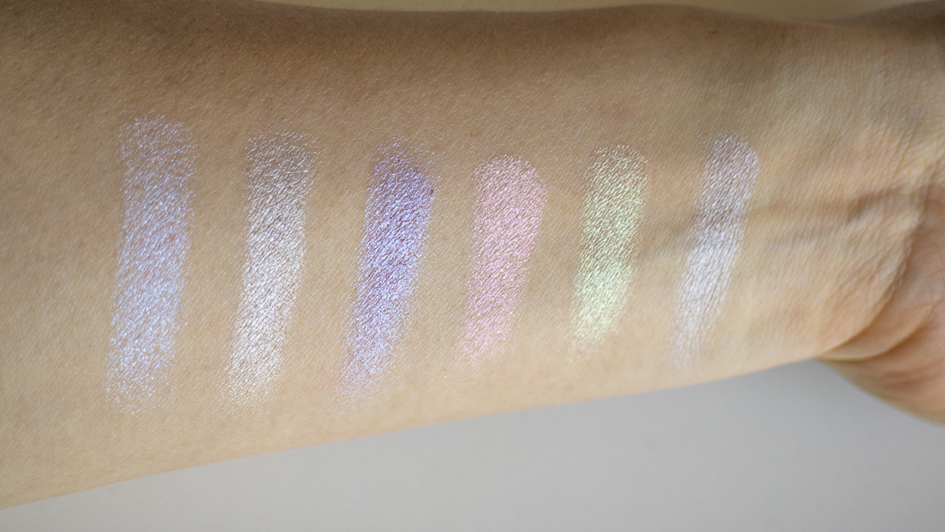 From L to R: Blue Ice, Star, Purple Horseshoe, Pink Heart, Lucky Clover, Blue Moon