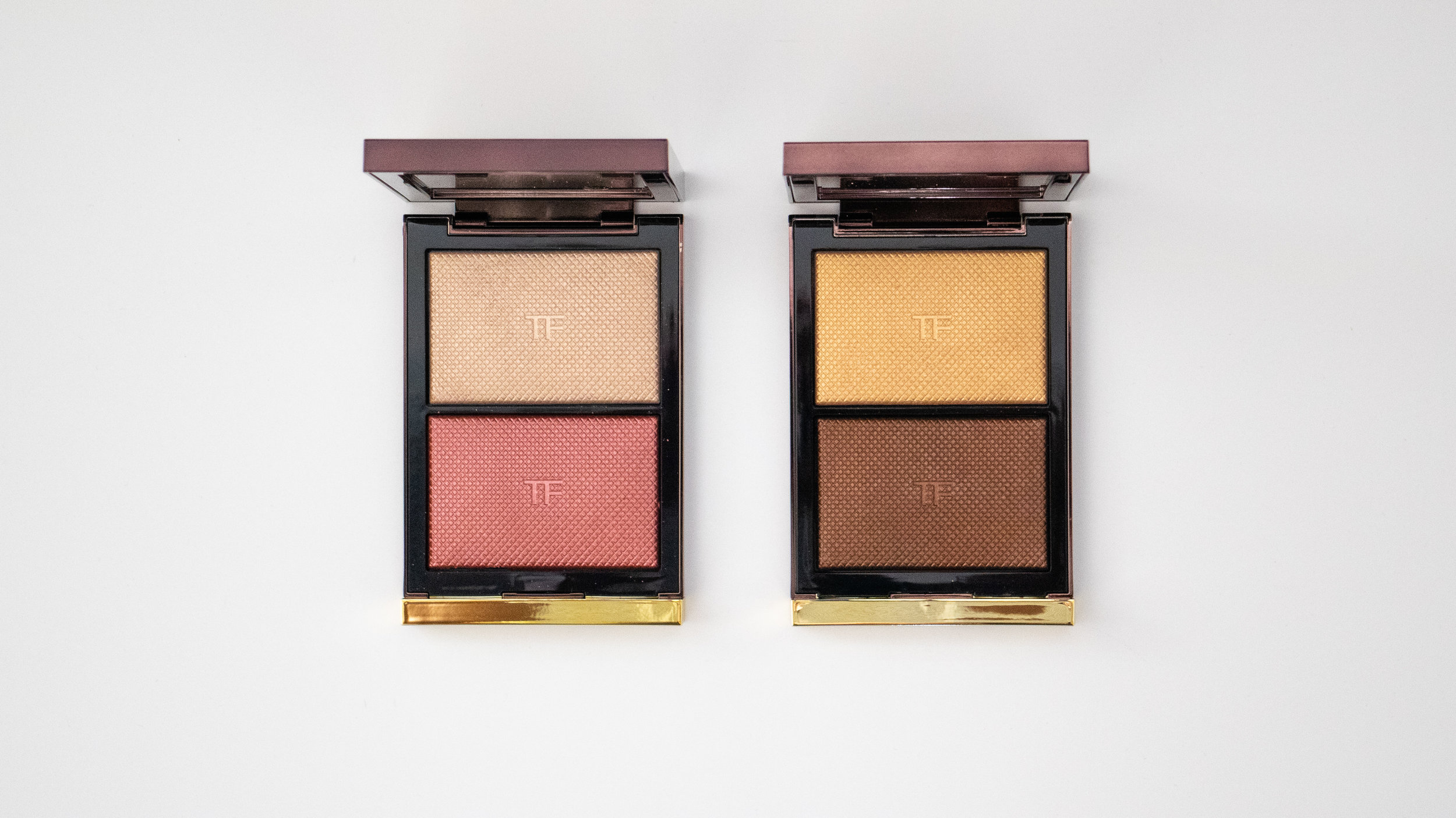 Tom Ford Skin Illuminating Powder Duos. Incandescent (L), Flicker (R).