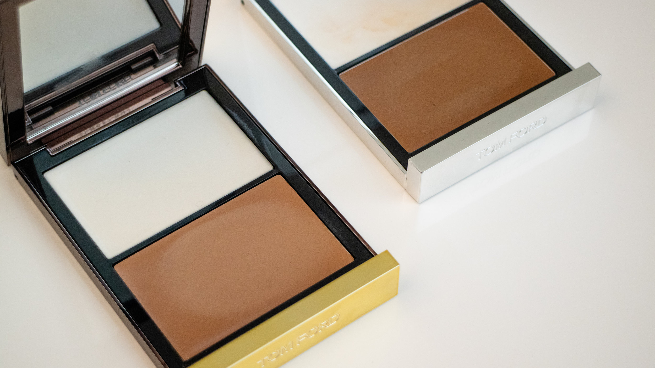 Tom Ford Shade and Illuminate Duo in Intensity 0.5 (L) and 1 (R) .