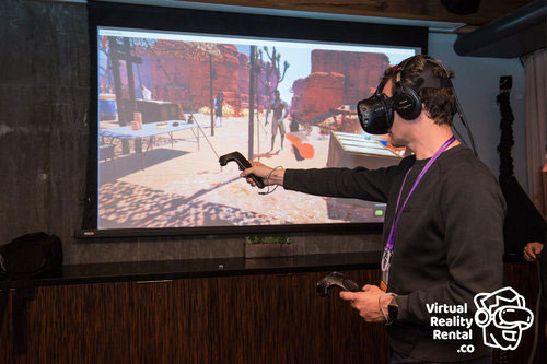 Event Attendee with HTC Vive