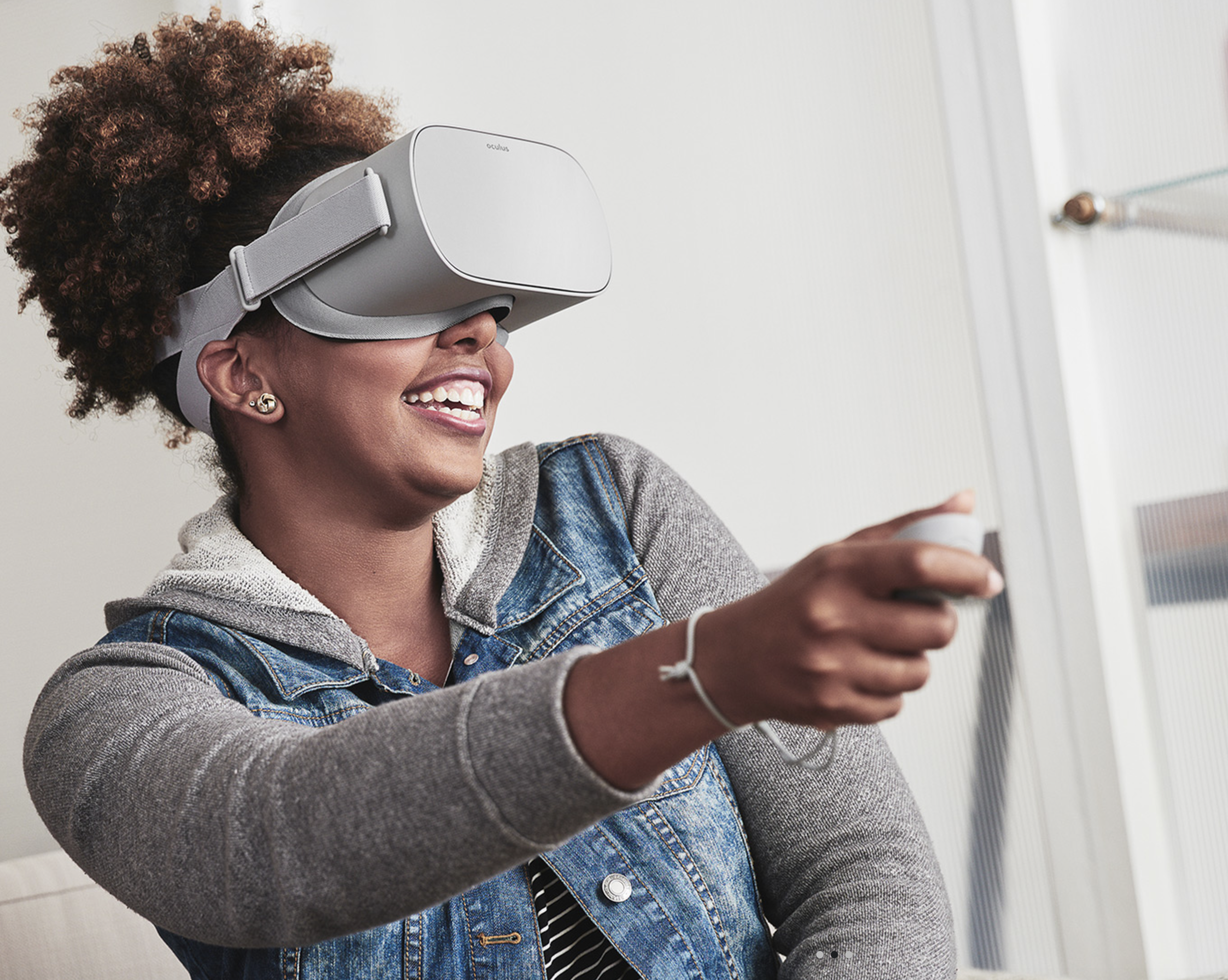 Trying out Oculus Go