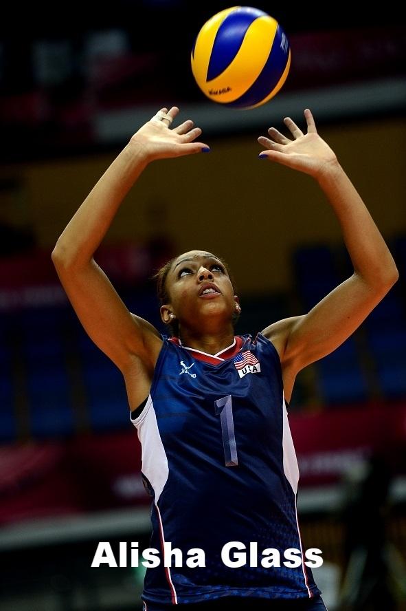 U.S. Olympic setter Alisha Glass
