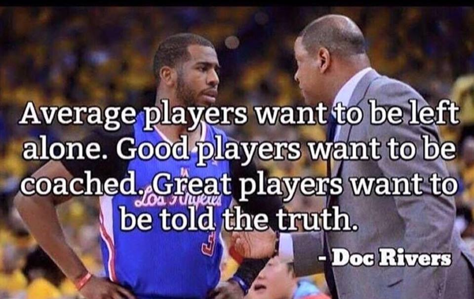 Good food for thought. When it comes to coaching feedback, which of these three types of players are you?