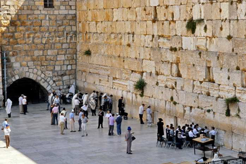 "The Western or ""Wailing"" Wall in the Old City of Jerusalem, the only part of the 2nd Jewish Temple that remains"