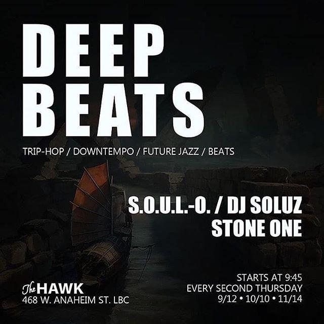 Reposted from @anythingfresh -  AHHH FRESH! Tonight 9/12!  #Repost @deepbeatscollective with @get_repost ・・・ DEEP BEATS Thursday September 12 The Hawk @thehawkbar ... Selectors: S.O.U.L.-O. SOLUZ STONEONE @souloverse @anythingfresh @ogstoneone ... #triphop #downtempo #futurejazz #idm #beats #dubstep #experimental #jungle #breaks #deepbeats #longbeach #thehawk #monthly #losangeles #junglizm #anythingfreshdjs flyer @22_befree merch @junglizmcrew - #regrann