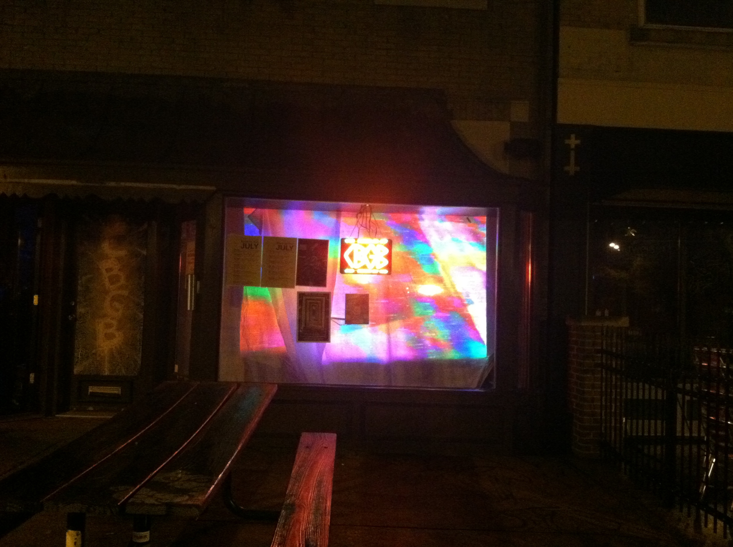 Live visuals for Pony Farm and Buffalo Sex Change. Projections were shown through the window and seen from the street.  CBGB //St. Louis MO //July 2015