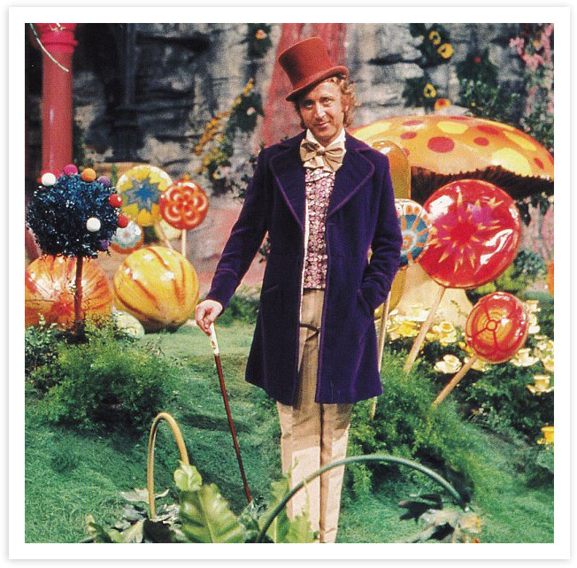 Pure Imagination - Willy Wonka - One of the most inspiring and innovative landscape designers of all time. Pure Imagination Park featured in the book/film is a core influence of my work. A world where food, beauty, surprise and play come together for all to enjoy, explore and eat from.