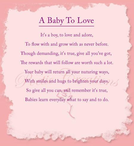 Inspirational Baby Shower Poem (
