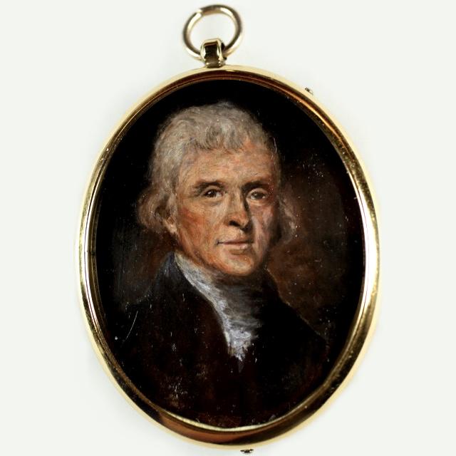 Truman B. Crisler's fine portrait miniature of Jefferson.