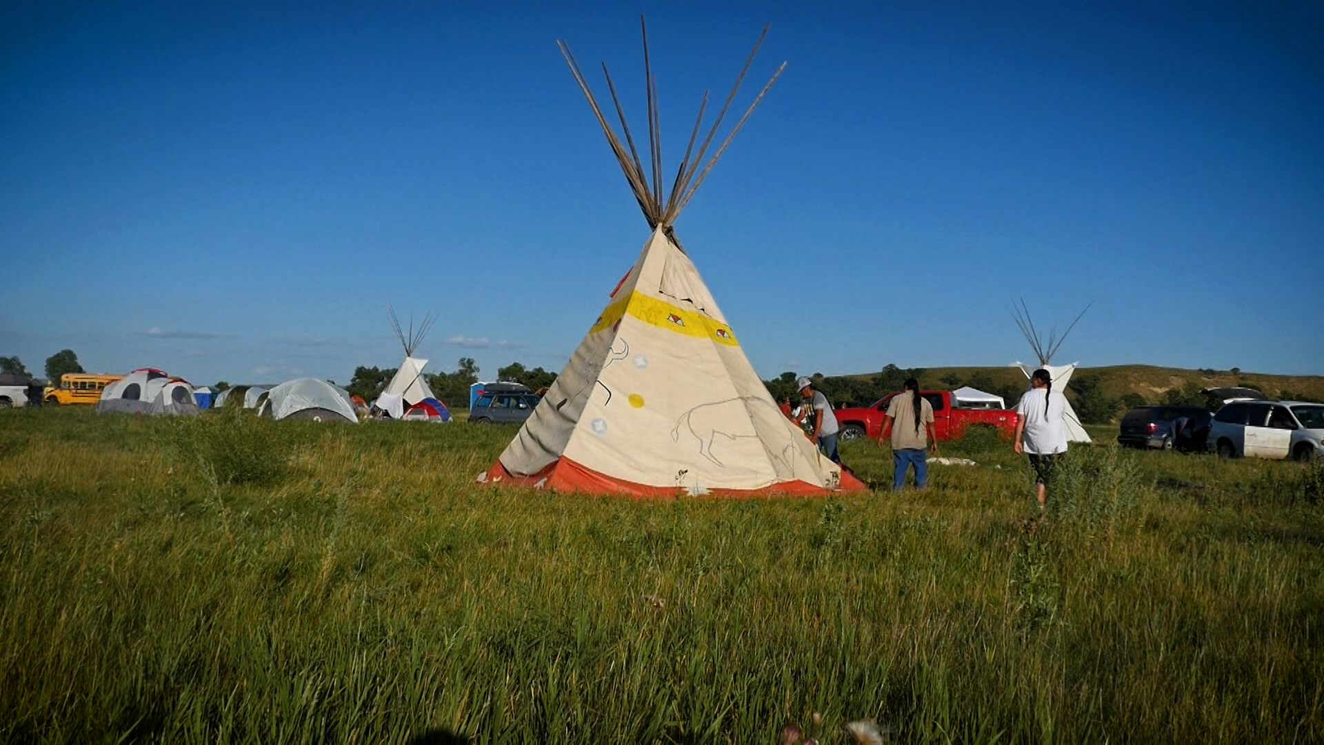 Sacred Stone Camp in Standing Rock.  Photo by David Swenson.