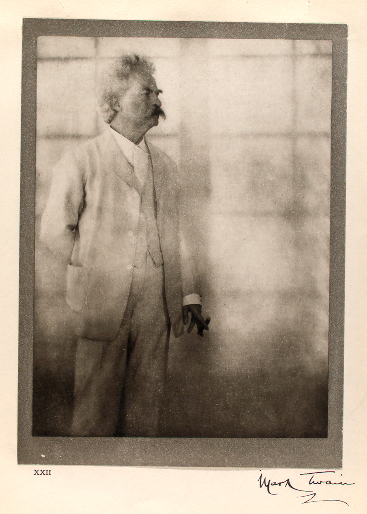 """""""Mark Twain, Stormfield, December 21st, 1908."""" 1913. From the  New York Public Library Digital Collections ."""