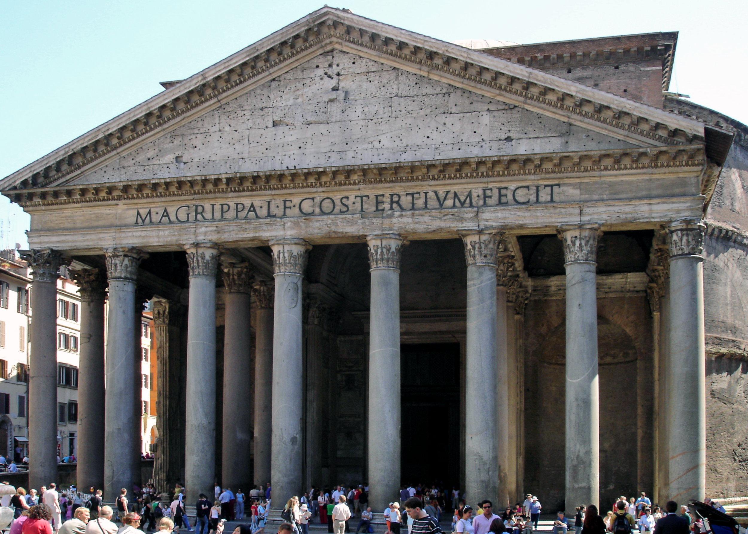 The Pantheon, 2005. Photo by Arpingstone via  Wikimedia ,  CC BY-SA 3.0 .