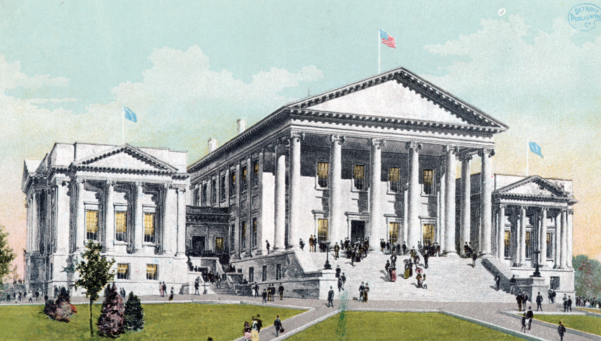 Virginia State Capitol, public domain via  New York Public Library Digital Collections