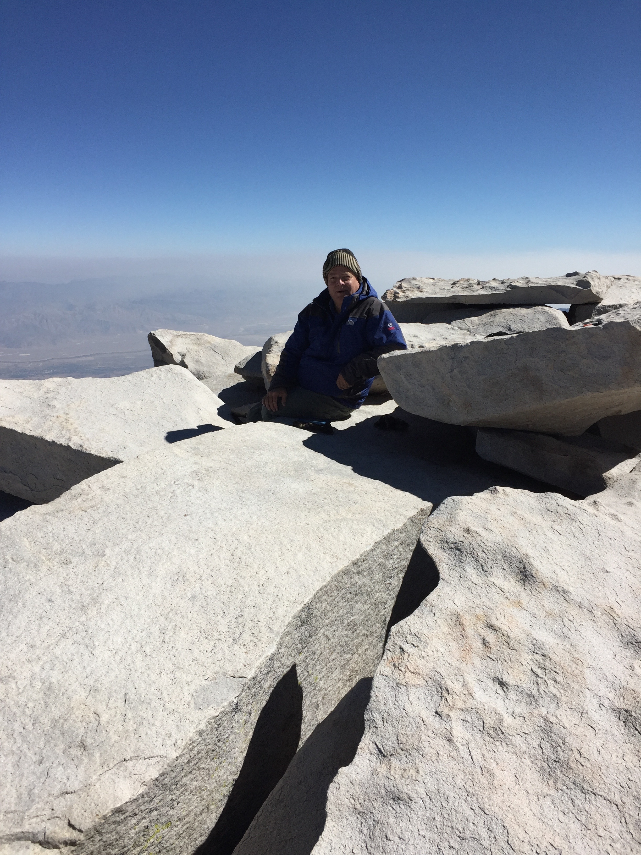 Clay on Mt. Whitney. Photograph by Russ Eagle.