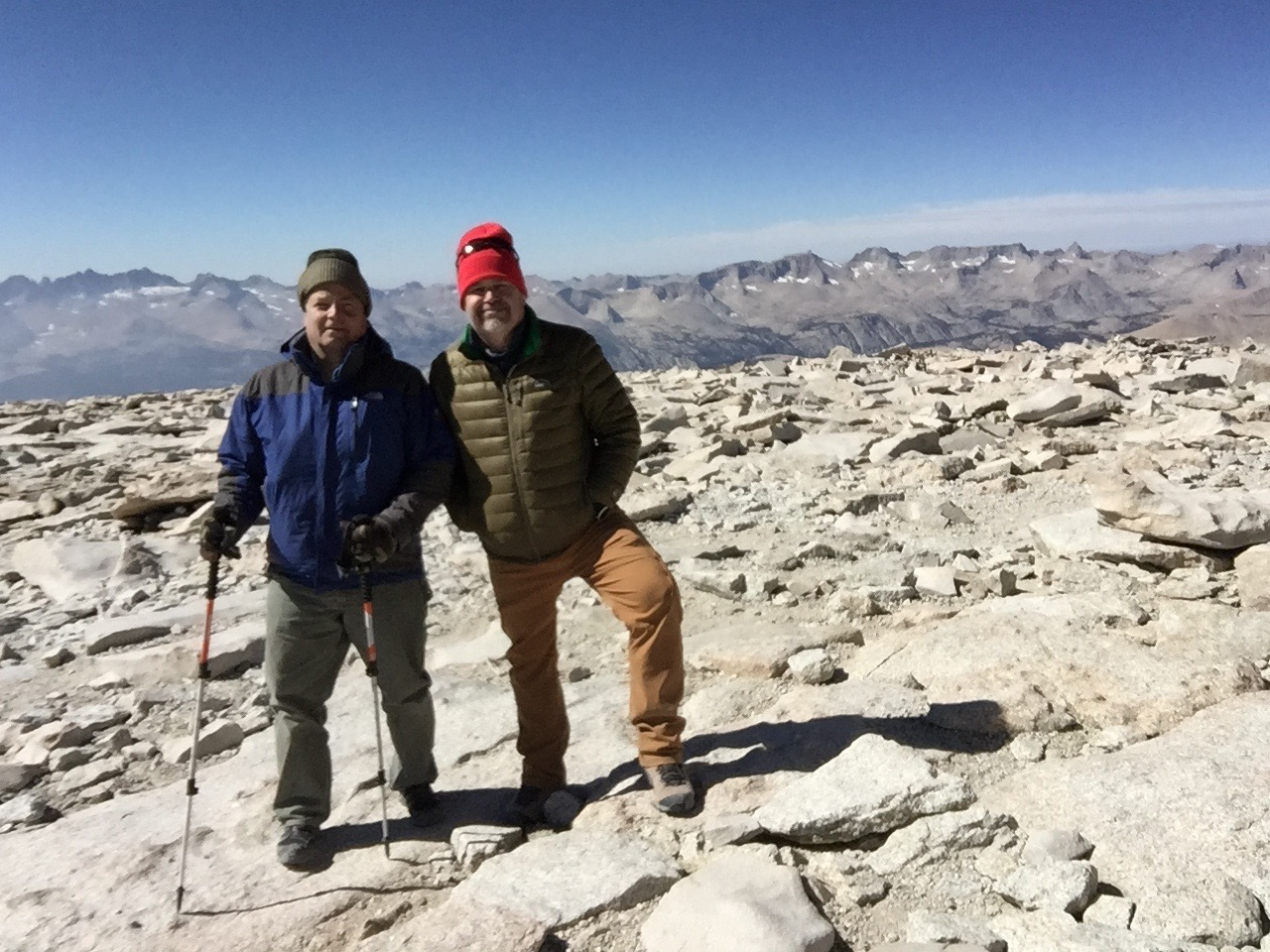 Clay and Russ on the summit of Mt. Whitney