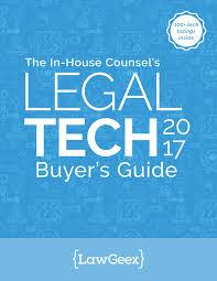 Legal Tech 2017 Buyer's Guide